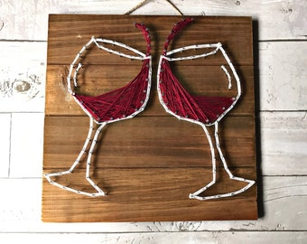Wine Decor / String Art / Wine Art / Wine Wood Decor / Wine