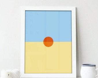 Childish Gambino Print|STN MTN / KauaiAlbum Art|Minimalist Print|Donald Glover|Geometric Art|Music Print|Hip Hop Poster|R&B|5x7|8x10|18x24
