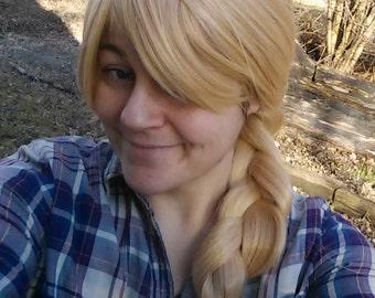 Astrid wig, blonde braided wig blond bangs soft high quality adjustable, dragon Wig, long costume, astrid cosplay, lond braid