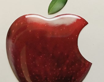 1 x 3D Glossy, domed Apple (Fruit) logo decal/sticker Apple Accessory.