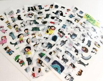 Kawaii Cat Stickers Set | Korean Stationery