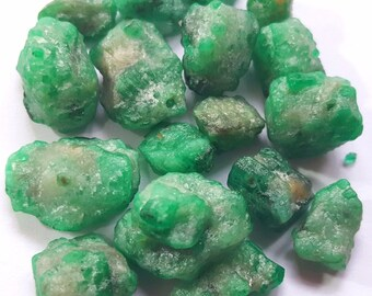 102 Carats Amazing Natural Rough Emerald Stones From Panjshir Afghanistan