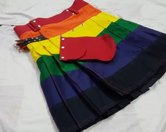 LGB Gay Pride Rainbow kilt | Modern kilts for men for sale | Utility kilt | Fashion kilt | Cargo kilt | kilt