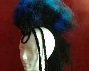 Custom Road Warrior Mohawk wig Fake Hair