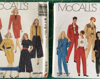 Sizes 14-16-18 Lot of 2 McCalls Separates Sewing Patterns