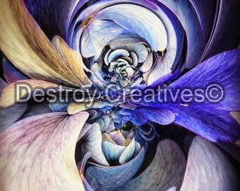 FREE SHIPPING // Distorted Reality Floral Photo // Abstract // Trippy // Color // Mirror // Distorted // Photograph