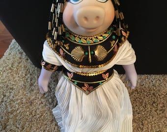 Vintage Miss Piggy Cleopatra Porcelain Doll