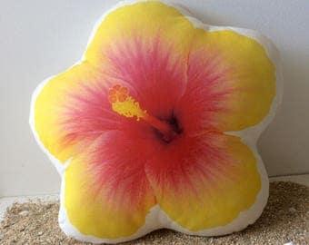 Yellow Hibiscus Pillow