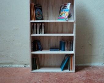 Miniature bookshelf, 1:12th scale