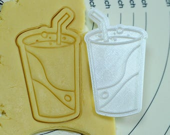 Soda Cookie Cutter and Stamp