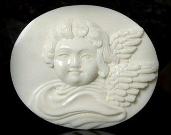 Little Angel Pendant from carved bone (free Shipping)