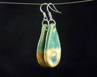 Ceramic earrings terracotta
