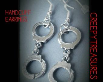 Handcuff Earrings. 925 Sterling Silver.