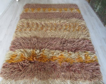 5'3''x4'1'' /164 x 126cm,Nice colors Shaggy Tulu Rug, Long piles Wool Area Rug, bohemian style shag Rug, flooring carpet Rug, good hot Rug,