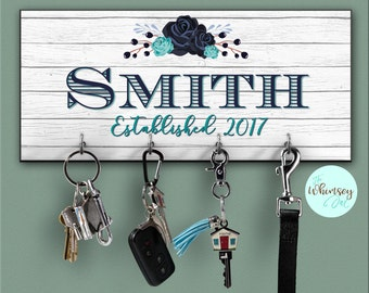 key holder for wall, key rack, key hanger, personalized key holder, personalized key rack, realtor gift, wall key rack, key holder