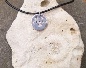 """Unique and Pretty Hand made Sterling Silver Pendant """"Dream"""""""
