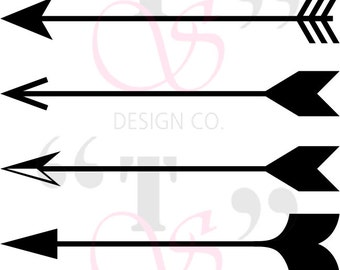 Arrows svg file for use with Cricut, Silhouette, and similar cutting machines
