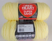 Pale Yellow -  Red Heart Super Saver yarn worsted weight - 1030