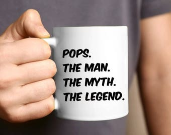 Father's Day Gift For Dad and Grandpa, Coffee 11oz Mug, Unique Gift Ideas For Men & Husband, Make Him Proud On His Birthday, Christmas, Papa