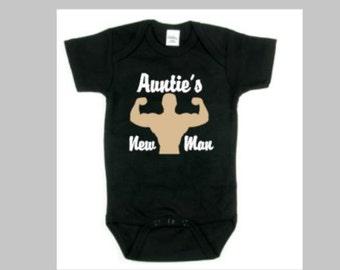Auntie's New Man Baby Onesie | Aunt Onesie | auntie's onesie | Nephew Onesie | Baby Onesie | Newborn Onesie | Baby nephew Onesie