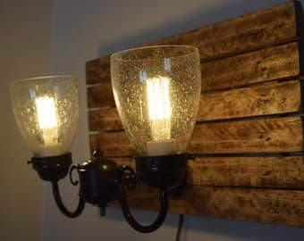 Rustic Custom Duel Light Wall Sconce