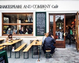 Paris Photography, Paris Wall Art,  Shakespeare and Company, Street Photography, French Decor