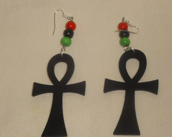 African Anch Wood Earring
