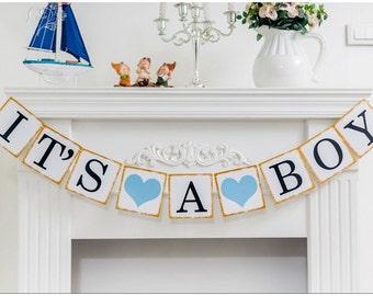 Baby Boy Banner, Its A Boy banner, Baby Shower Banner, Boy Shower Decorations, baby shower decorations, baby shower for boy, boy baby banner