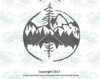 Mountain View Silhouette, wilderness, Discover, logo, banner svg, svg file, Hand-drawn, Hand-written svg, svg cutfile, svg for Cricut