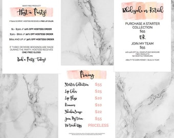 LipSense Party Package // Prices // Host A Party // Join My Team Printable's (3) 8.5 x 11
