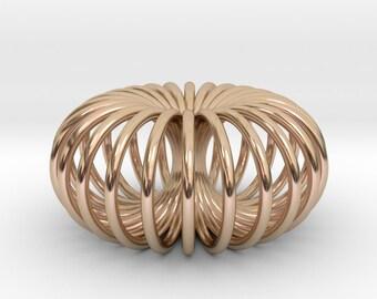 Torus Pendant Necklace / Sacred geometry / Flower of life / Spiritual Infinity