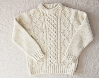 Vintage Knit Fisherman Sweater