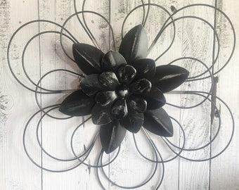 Metal Flowers, Wall Decor, Patio Decor, Back Porch Decor,