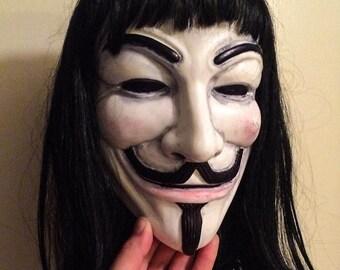 V for Vendetta style mask unpainted