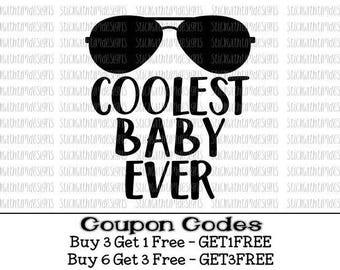 Coolest Baby Ever svg Baby Boy svg Hipster Svg PNG Files svg files for silhouette cameo svg files for cricut files for boys baby svg newborn