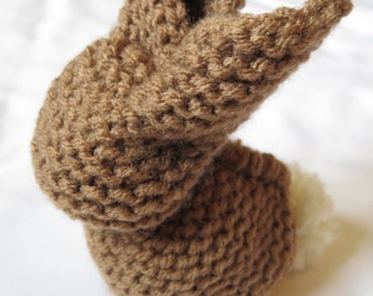 Cafe Brown*Knit*Bunny