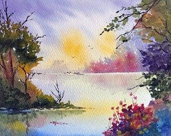 Around the Bend (Original Watercolor Painting)