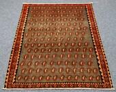 Cider yellow overaged rug, Runner Rug,  Handwoven rug, Wool Rug, Shiraz Rug, Vintage Rug, Hand Loomed Rug, oriental rug