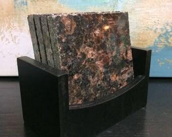 Natural Granite Stone Coasters Set of 4
