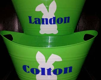Personalized Easter Baskets for kids  Bunny&Name Super cute!!