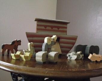 Noah's Ark Wooden Toy Set