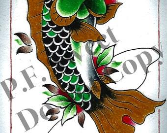 Hooked Fish Print!!