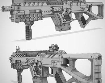 Titanfall CAR SMG 3D Model