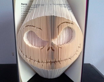 Book Folding PATTERN for Jack Skellington (A Nightmare Before Christmas)
