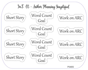 Author Planner Stickers - Word Sheet 11