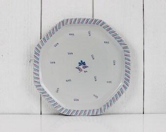 Large serving plate - Haviland France - French serving bowl, Ironstone plate, French ceramic plate, Cake plates, Limoges, Porcelain, E071