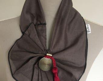 Statement Neckpiece / Necktie/ Fabric Necklace