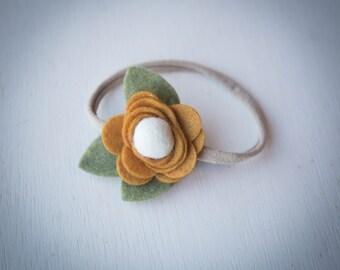 READY TO SHIP///Honey Flower Headband
