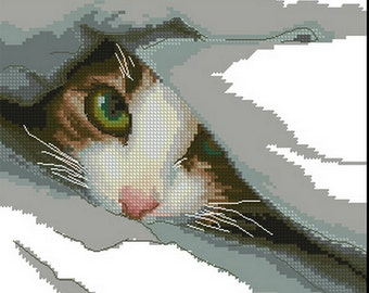 Cross stitch pattern PDF Cat