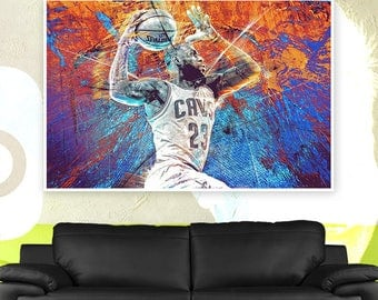 Lebron James Art Poster or Canvas | Limited Edition Lebron James Art Poster or Canvas